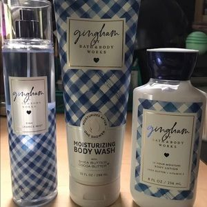 Bath and Body Works Gingham Set